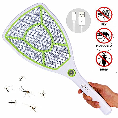 Great Polly Usb Rechargeable Electric Bug Zapper Fly Swatter Zap Mosquito Zapper With Lithium Batteries And Led