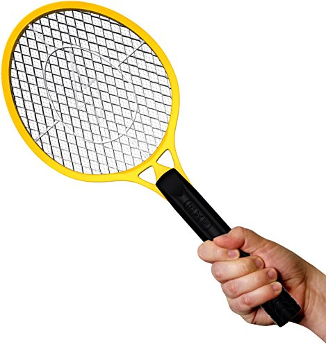 Bugzoff&reg Electric Fly Swatter Racket - Best Zapper For Flies - Swat Insect Wasp Bugamp Mosquito With Hand - Indoor