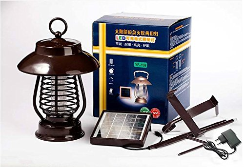 Sunnytech&reg Solar Powered Insect Pest Mosquito Bug Killer Zapper Trap  16 Led Lamp Light Function  Indoor Charging
