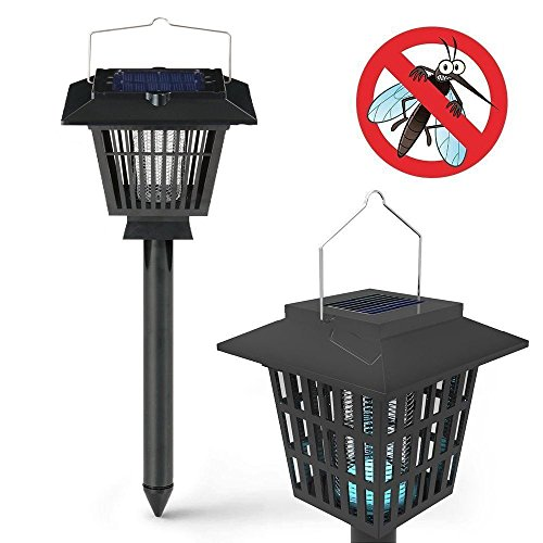 Topyart 2 In 1 Portable Mosquito Insect Zapper Bugs Killer With Solar Led Lamp1 Pack