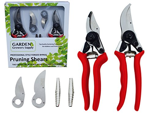 Ggs- Professional Garden Pruner Gift Set - Two Specialty Trimmers One Large All Purpose And One Small Hand Shear