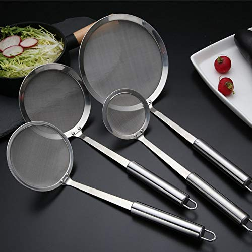 BIRD WORKS Stainless Steel Wire Mesh Filter Flour Sieve Filter Spoon Kitchen Utensils 235-78cm
