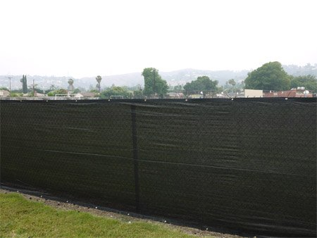 6x25 Fence Privacy Screen Taped Mesh Fabric Black