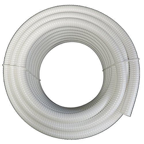 34&quot Dia X 100 Ft - Hydromaxx&reg White Flexible Pvc Pipe Hose Tubing For Pools Spas And Water Gardens