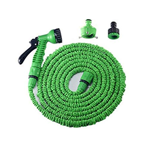Beauty-inside Extensible Garden Hose Expandable Flexible Water Hose Plastic Gun MagicTelescopic Hose for Watering Stretchable Irrigation Pipe175ftGreen Garden Hose