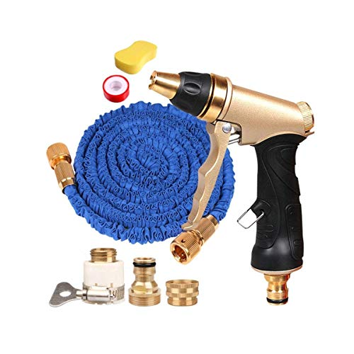 HIZLJJ Professional Garden Hose Nozzle Spray NozzleAdjustable Watering Patterns Metal Body GripHigh-Pressure Car Wash Water Gun Suitable for Watering Lawn and Garden Washing Dogs Pets