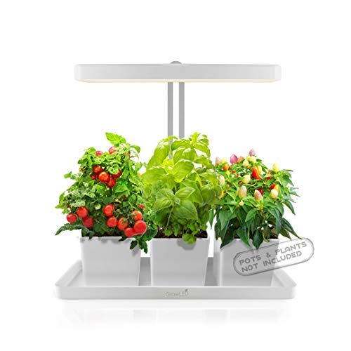 GrowLED LED Indoor Garden Herb Garden Kitchen Garden Height Adjustable Automatic Timer 24V Low Safe Voltage Ideal for Plant Grow Novice Or Enthusiasts Various Plants DIY Decoration White