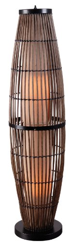 Kenroy Home 32248rat Biscayne Outdoor Floor Lamp Rattan Finish With Bronze Accents
