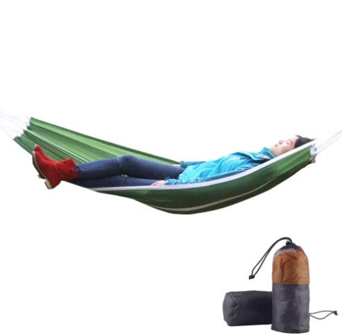 LIUFENGLONG Single Leisure Parachute Cloth Hammock Outdoor Light Camping Dormitory Single Swing Hammock Color  Orange