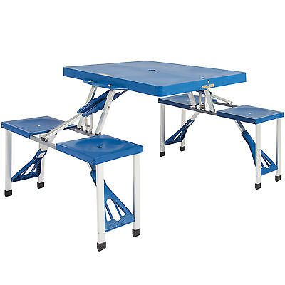BCP Kids Outdoor Portable Plastic Folding Picnic Table Camping W 4 Seats