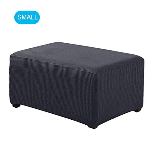 Stretch Plaid Universal Ottoman Cover Easy Fitted Oversized Storage Ottoman Slipcover Ottoman Foot Rest Sofa Slipcovers Footstool Protector Covers High Elasticity Furniture Protector