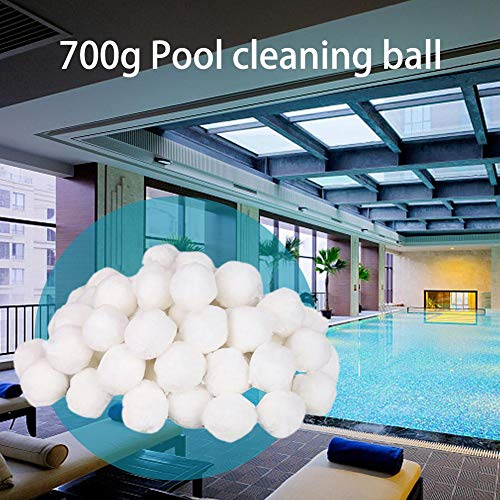 Ridecle 700g Swimming Pool Cleaning Fiber Ball Pool Cleaning Balls Light High Strength Durable Swimming Pool Cleaning Equipment