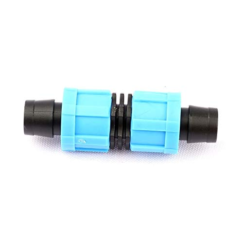 QINRUIKUANGSHAN 5pcs Straight-Through 16mm Drip Irrigation Tape Connectors Thread Lock Design More Fixed Garden Irrigation System Tape Joint