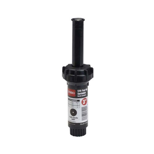 Toro 53818 3-inch Pop-up Fixed-spray With Adjustable Nozzle Sprinkler 0-360-degree 15-feet