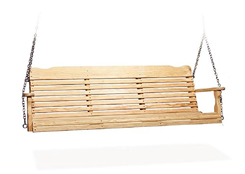 Leisure Lawns Poly Outdoor Furniture 4 Pine Wood Westchester Porch Swing Natural