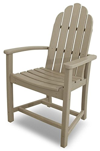 39 Earth-Friendly Recycled Outdoor Patio Adirondack Dining Chair - Sand Brown
