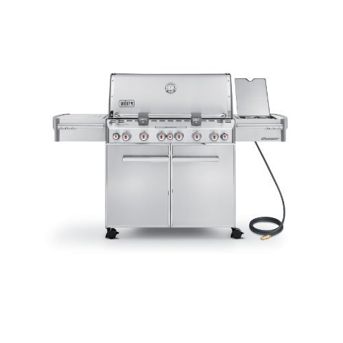 Weber Summit 7470001 S-670 Stainless-steel 769-square-inch 60800-btu Natural-gas Grill