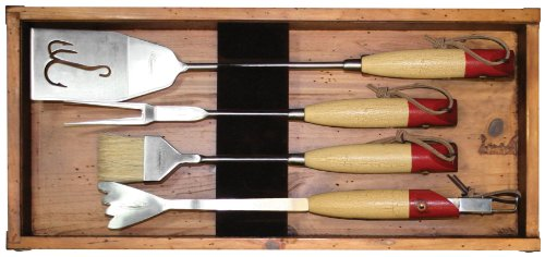 Teton Grill Co Fishing Grill Utensils Set with Tray