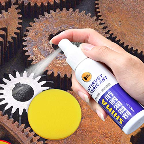 Samoii All-Purpose Rust Remover Anti-Rust Lubricant Multi-Purpose Rust Iron Stain Remover Rust Removal Iron Metal Surface Stain Removal 100ML