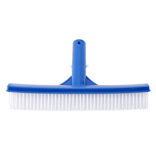NOENNULL Swimming Pool Brush 10inch Wide Pool Brush Durable High-Density Polyethylene Brush with Screw Hole for Cleaning Pool Walls Pool Ground Surfaces