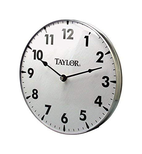 Taylor Precision Products Patio Clock 18-Inch Renewed