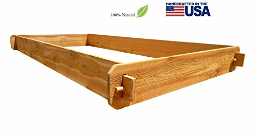 Timberlane Gardens Raised Bed Kit 3x6 All Natural Western Red Cedar Handcrafted with Mortise and Tenon Joinery 3 Feet x 6 Feet